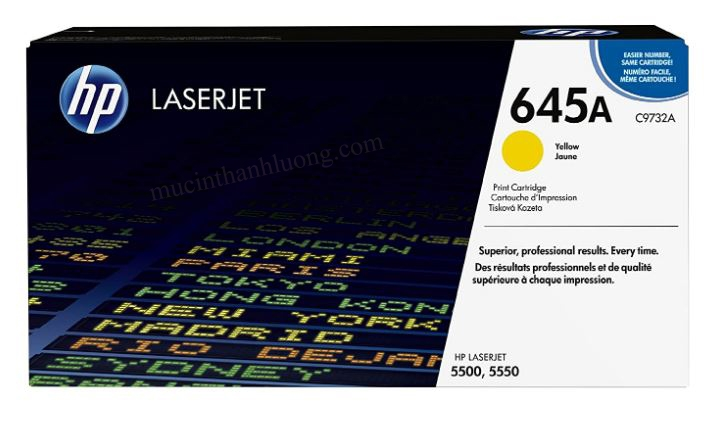 Mực In HP 645A Yellow LaserJet Toner Cartridge C9732A
