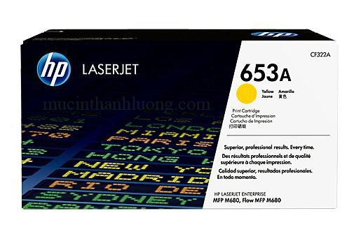 Mực In HP 653A Yellow LaserJet Toner Cartridge CF322A