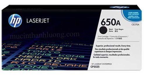 Mực HP 650A Black LaserJet Toner Cartridge (CE270A)