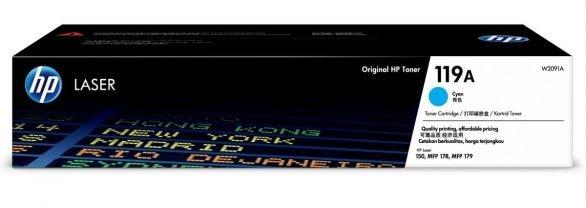 Mực In HP 119A Cyan Original Laser Toner Cartridge (W2091A)
