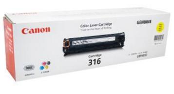 Mực in Canon 316 Yellow Toner Cartridge